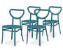 4PK TURQUOISE EDINA II STACKING CHAIRS