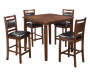5 Piece Wooden Pub Set on White Background