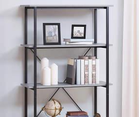 Stratford Farmhouse Gray 5 Shelf Bookcase Big Lots