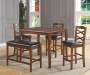 5-Piece Wooden Pub Set with Bench Room View
