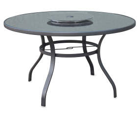 Wilson Amp Fisher 50 Quot Tahoe Glass Top Patio Table With Lazy