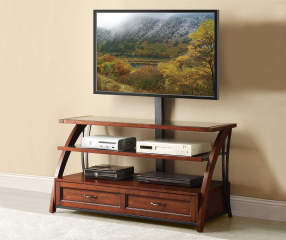 50 Quot Mounted Wood Tv Stand Big Lots