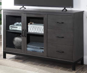 Stratford 55 Quot Charcoal Gray 2 Door Tv Stand With Metal