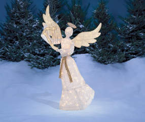 Winter Wonder Lane Light Up Angel With Harp 5 Big Lots