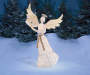 5FT Light-Up Angel with Harp Outdoor Setting