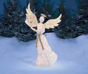 Winter Wonder Lane Light Up Angel With Harp 5 Big Lots