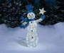 5FT Light-Up Glittering Snowman In Outdoor Setting
