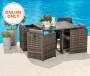 5PC ALL WEATHER WICKER DINING SET