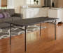 6 Foot Black Center Folding Table Without Chairs Lifestyle Image