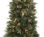 6 Foot Donner Deluxe Pre Lit Artificial Christmas Tree in Urn Close Up Detail Silo Image