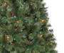 6 Foot Sentiments Green Pre Lit Artificial Christmas Tree with Multi Colored Lights Close Up Detail Silo Image