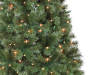 6 Foot Sentiments Pre Lit Green Artificial Christmas Tree with Clear Lights Close Up Detail Silo Image