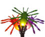 6 Foot Spider Icicle Lights 35 Count Bundle Up Close Detail Silo Image