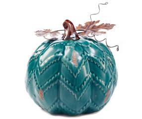 Round Turquoise Rustic Ceramic Pumpkin Big Lots