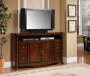 "60"" Ash Burl Finish TV Stand"