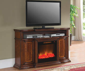 60 Low Profile Electric Fireplace With Bluetooth Speakers At Big Lots B M