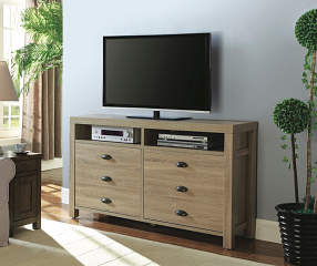Just Home 60 Quot Weathered Driftwood Tv Stand Big Lots