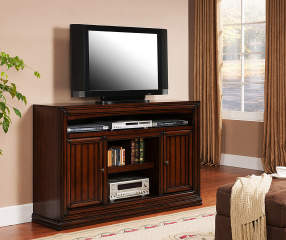 60 Quot Cherry Planked Tv Stand Big Lots