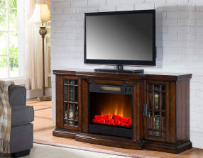 60 Quot Low Profile Electric Fireplace With Bluetooth
