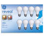 60 Watt Reveal Soft White Light Bulbs 8 Pack in Package Overhead Shot Silo Image