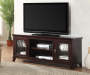60 inch Espresso 2-Door TV Stand Lifestyle Image WIth TV