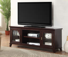 Just Home 60 Quot Espresso 2 Door Tv Stand Big Lots