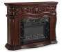 62 Inch Grand Cherry Fireplace Angled View Silo Image