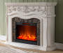 62IN GRAND WHITE FIREPLACE