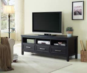 Just Home 65 Quot Black 3 Drawer Melamine Tv Stand Big Lots