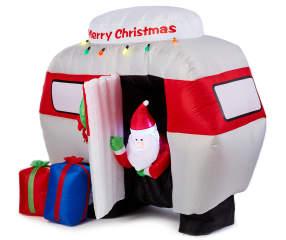 Winter Wonder Lane Led Inflatable Santa Camper 6 Big