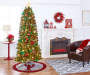 7 Feet Aspen Slim Pre Lit Artificial Christmas Tree with Clear Lights In Room Environment Lifestyle Image