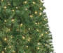 7 Foot Aspen Slim Pre Lit Artificial Christmas Tree with Clear Lights Close Up Detail Silo Image