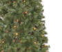 7 Foot Aspen Slim Pre Lit Artificial Christmas Tree with Multi Color Mini Lights Close Up Detail Silo Image