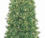 7 Foot Saint Nick Pre Lit Cashmere Artificial Christmas Tree in Urn Close Up Detail Silo Image