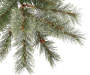 7.5 Foot Park City Pre Lit Cashmere Artificial Christmas Tree Lights Close Up Detail Silo Image