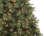 7.5 Foot Vancouver Pinecone and Berry Pre Lit Artificial Christmas Tree Close Up Detail Silo Image