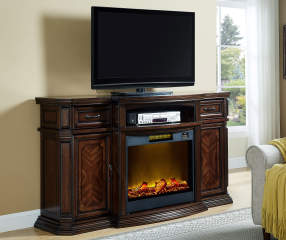 72 Quot Walnut Console Electric Fireplace Big Lots