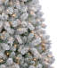 7FT Lake Tahoe Flocked Pre-Lit Artificial Christmas Tree with Clear Lights Close Up Silo