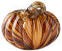8 Inch Tiger Stripe Pumpkin with Curly Vine Silo Image