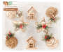 8PK RUSTIC ORNAMENTS