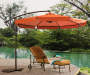 9.8 FT DIAMETER RUST OFFSET UMBRELLA