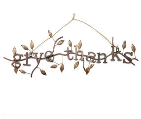 Quot Give Thanks Quot Leaf Metal Hanging Wall D 233 Cor Big Lots
