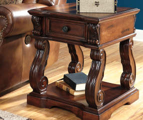 Signature Design By Ashley Alymere Rustic Brown End Table Big Lots