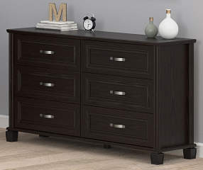 ameriwood andover oak espresso 6 drawer dresser big lots. Black Bedroom Furniture Sets. Home Design Ideas