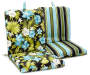 ANYA AQUA TROPICAL CHAIR CUSHION