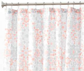 Aprima Casbah Gray Amp Orange Fabric Shower Curtain Big Lots