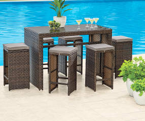 Wilson Amp Fisher Augusta All Weather Wicker 7 Piece Bar Set