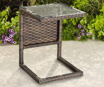Augusta All Weather Wicker CSide Table Big Lots - All weather wicker side table
