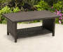 AUGUSTA FAUX WOOD TOP COFFEE TABLE