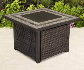 Wilson Amp Fisher Augusta 38 Quot All Weather Wicker Square Fire